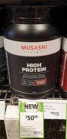 Musashi 900g Hight Protein Chocolate Milkshake Flavour