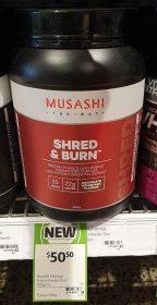 Musashi 900g Shred Burn Protein Chocolate Milkshake Flavour