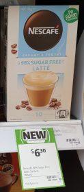 Nescafe 135g Sachets 98 Sugar Free Latte