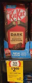 Nestle 170g KitKat Dark Ecuador Cote Divoire 1