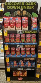 Nestle 170g KitKat Discover Dark Down Under POS 1