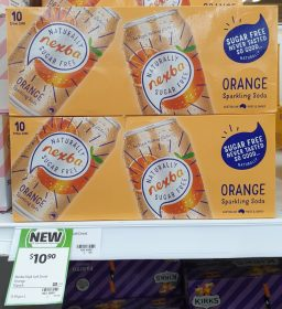 Nexba 10 X 275mL Sparkling Soda Orange