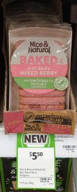 Nice Natural 200g Baked Oat Bars Mixed Berry