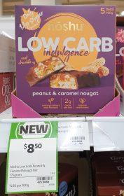 Noshu 160g Low Carb Indulgence Nougat Peanut Caramel