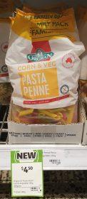 Orgran 350g Pasta Penne Corn Veg