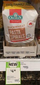 Orgran 350g Pasta Spirals Buckwheat