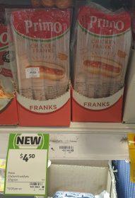 Primo 375g Chicken Franks 1
