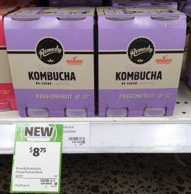 Remedy 4 X 250mL Kombucha Passionfruit