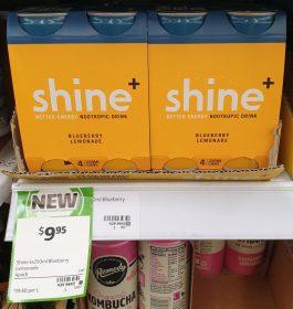 Shine 4 X 250mL Nootropic Drink Blueberry Lemonade