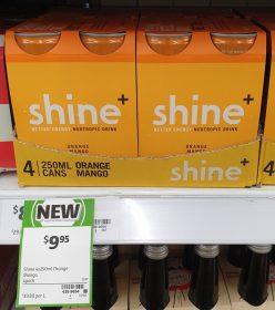 Shine 4 X 250mL Nootropic Drink Orange Mango
