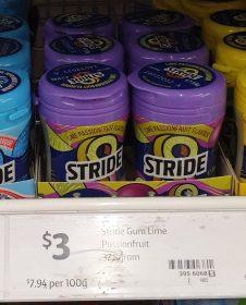 Stride Gum 37.8g Gum Lime Passionfruit Flavour