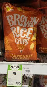 Sunrice 150g Brown Rice Chips Farmhouse Cheddar 1