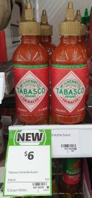 Tabasco 256mL Sauce Sriracha