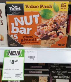 Tasti 525g Nut Bar Choc Peanut