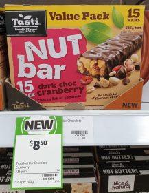 Tasti 525g Nut Bar Dark Choc Cranberry
