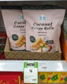 Thai Coco 140g Coconut Crispy Rolls Original 1