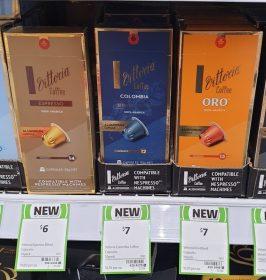 Vittoria 10 Pack Coffee Capsules Espresso Colombia Oro