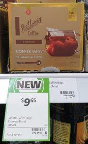 Vittoria 114g Coffee Bags Espresso