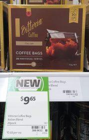 Vittoria 114g Coffee Bags Italian