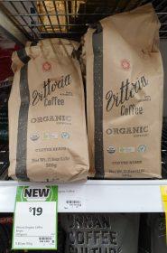 Vittoria 500g Coffee Beans Organic Espresso