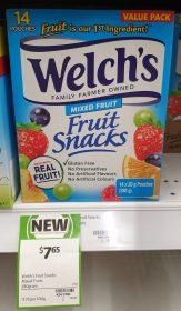 Welchs 280g Fruit Snacks Mixed Fruit