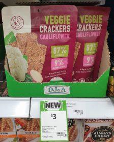Back To Basics 45g Veggie Crackers Cauliflower