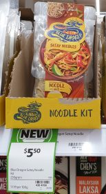 Blue Dragon 230g Noodle Kit Satay Noodles