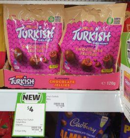 Cadbury 120g Frys Turkish Delight Chocolate Jellies