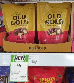 Cadbury 120g Old Gold Dark Chocolate Coated Bites Fruit N Nut