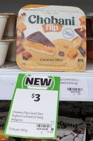 Chobani 140g Yogurt Flip Caramel Slice