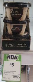 Coles 170g Finest Chef Developed Dip Brie Caramelised Red Onion Balsamic Vingar