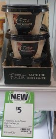 Coles 170g Finest Chef Developed Dip Goats Cheese Fig Cashew
