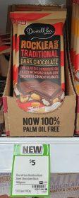 Darrell Lea 160g Dark Chocolate Rocklea Road Traditional