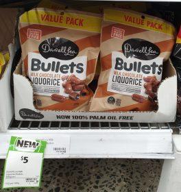 Darrell Lea 380g Bullets Milk Chocolate Liquorice