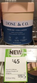 Dose Co 200g Marine Collagen Unflavoured 2