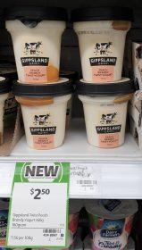 Gippsland Dairy 160g Yogurt Peach Brandy