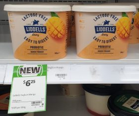 Liddells 700g Yoghurt Probiotic Mango