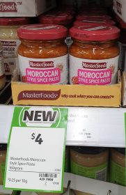 MasterFoods 160g Paste Moroccan Style Spice 1