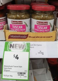 MasterFoods 160g Paste Tuscan Style Spice 1