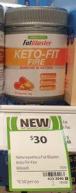 Naturopathica 60g Fat Blaster Keto Fit Fire 1