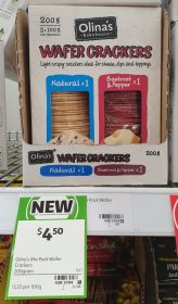 Olinas Bakehouse 200g Wafer Crackers Natural Beetroot Pepper 1