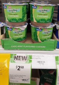 Pauls 170g Custard Allens Peppermint Crisp Inspired Choc Mint