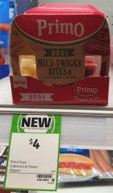 Primo 50g Duos Mild Twiggy Bites Cheddar Cheese