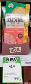 Real Dairy Australia 80g Real Feast Pack Tasty Cheese Mild Salami Crackers