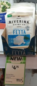 Riverina Dairy Co 200g Fetta Greek Style Firm Crumbly