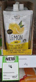 Sun Harvest 200mL Juice Lemon 1