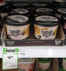 Tamar Valley Dairy 700g Yoghurt Greek Style Passionfruit Cream