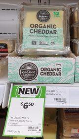 The Organic Milk Co 250g Slices Cheddar