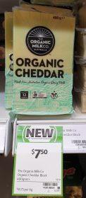 The Organic Milk Co 400g Block Cheddar