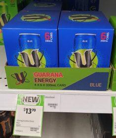 V 6 X 330mL Energy Drink Blue 1